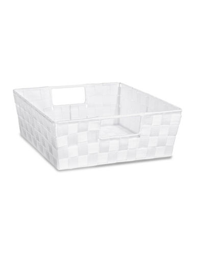 Distinctly Home Large Woven Bin-WHITE-One Size
