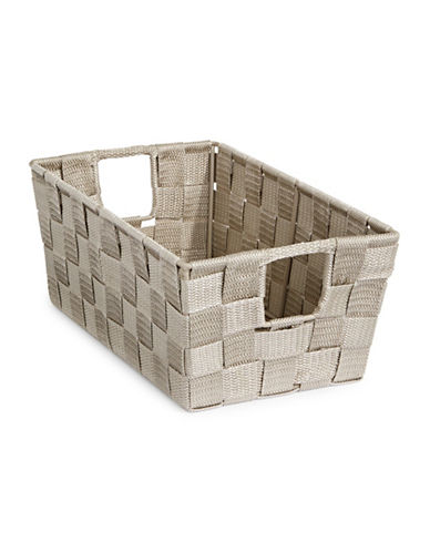 Distinctly Home Small Woven Bin-TAUPE-One Size