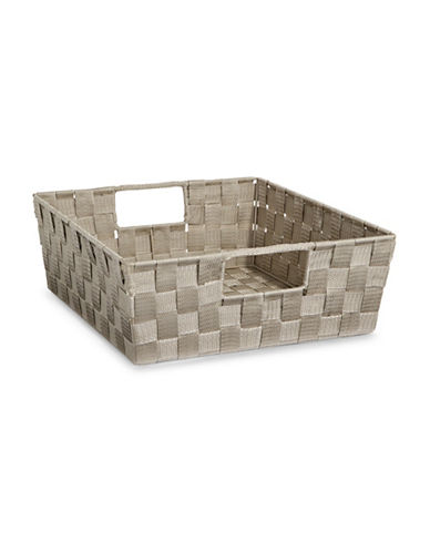 Distinctly Home Large Woven Bin-TAUPE-One Size