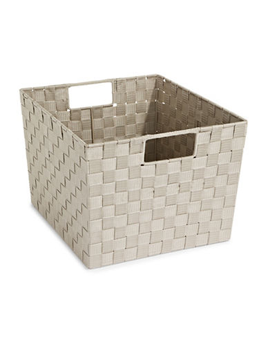 Distinctly Home X-Large Woven Bin-TAUPE-One Size