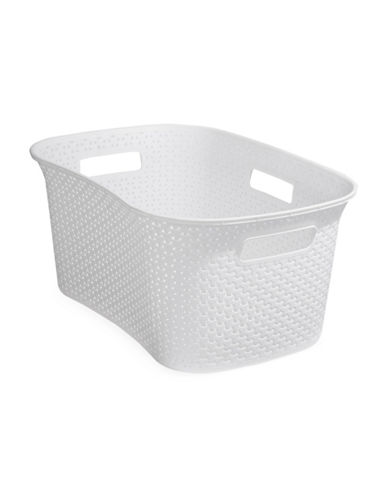 Essential Needs Laundry Basket-WHITE-One Size