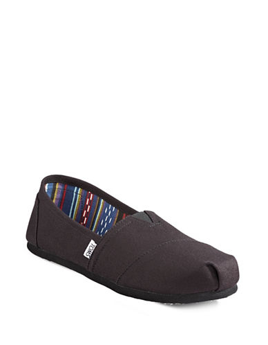 Toms Classic Canvas Shoes-BLACK-7.5