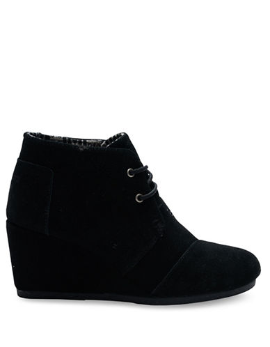 Toms Desert Wedge Booties-BLACK-8.5
