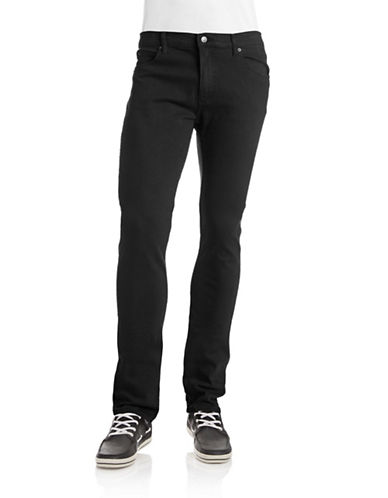 Cheap Monday Tight Slim Mid-Rise Jeans-BLACK-34X34