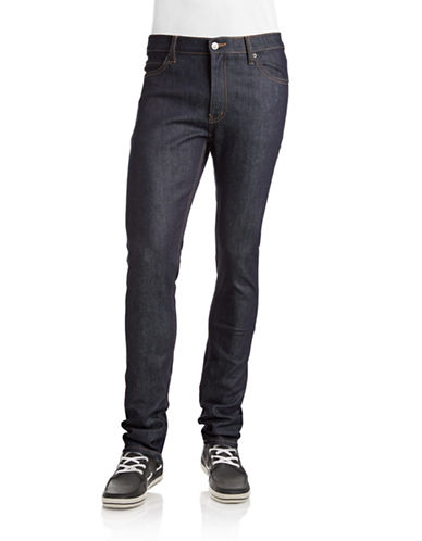 Cheap Monday Tight Slim Raw Jeans-BLUE DRY-32X34