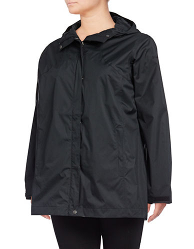 Columbia Splash a Little Rain Jacket-BLACK-1X