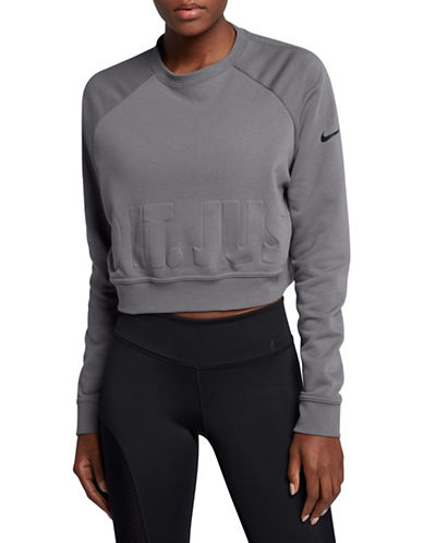Nike Long Sleeve Training Top-GREY-Medium