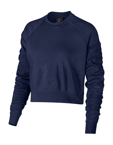 Nike Long Sleeve Training Top-BLUE-Large 89894918_BLUE_Large