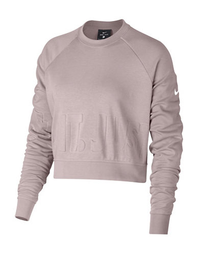 Nike Long Sleeve Training Top-PINK-X-Large
