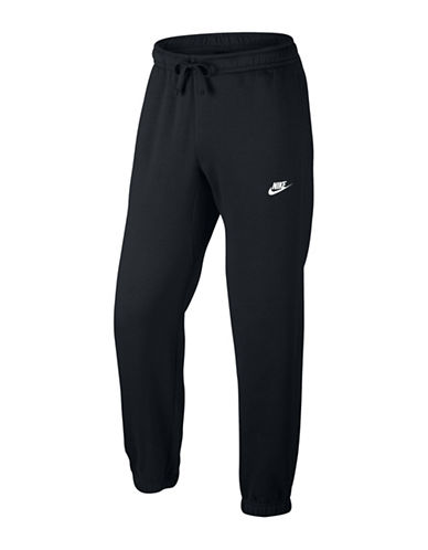 Nike Fleece Sportswear Pants-BLACK/WHITE-Small