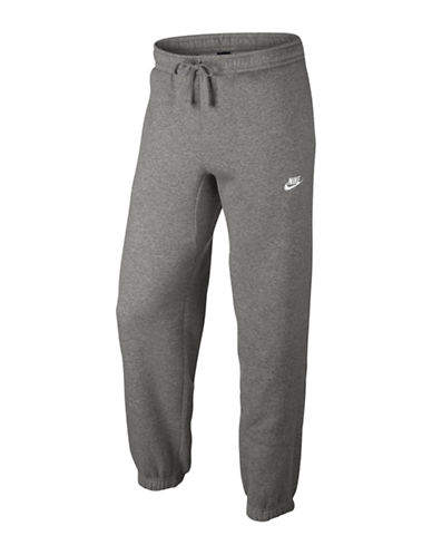 Nike Fleece Sportswear Pants-DARK GREY-Medium