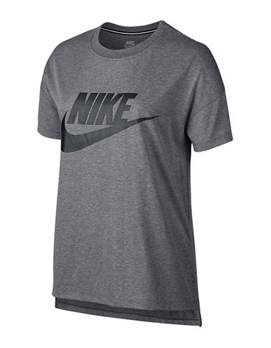 Nike Signal Heathered Graphic Front T-Shirt-CARBON-X-Large 88838171_CARBON_X-Large