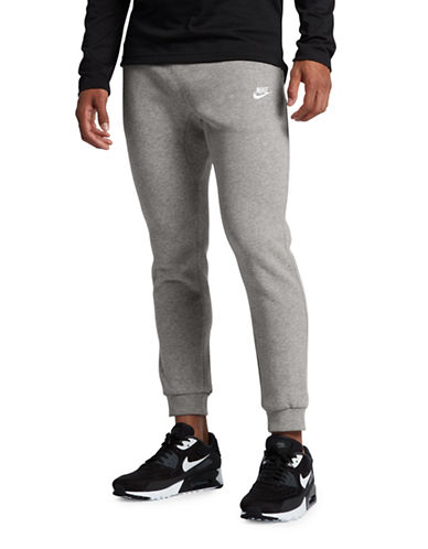 Nike Sportswear Fleece Joggers-GREY-Large
