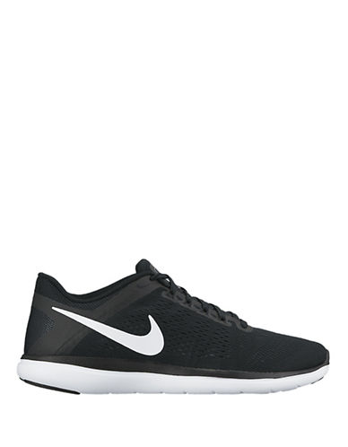 Nike Womens Flex 2016 Run Sneakers-BLACK-8.5