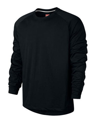 Nike Sportswear Bonded Jersey T-Shirt-BLACK-Small 88798112_BLACK_Small