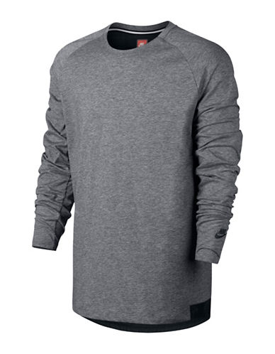 Nike Sportswear Bonded Jersey T-Shirt-CARBON HEATHER-Large 88798119_CARBON HEATHER_Large