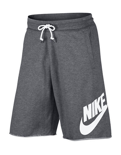 Nike Sportswear Heathered Shorts-GREY-X-Small