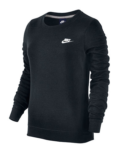 Nike Crew Neck Fleece Sweatshirt-DARK GREY-Large 88618606_DARK GREY_Large