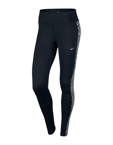 Nike Side Patterned Run Tights-BLACK-Large 88784400_BLACK_Large