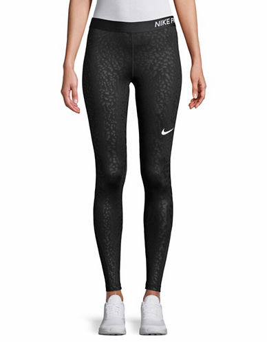Nike Spotted Cat Tights-BLACK-Medium