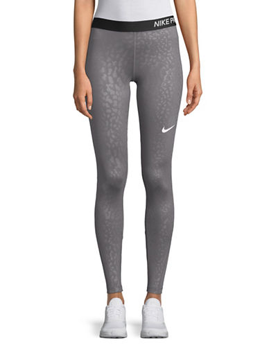 Nike Spotted Cat Tights-GREY-X-Small