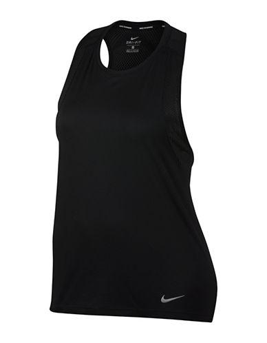 Nike Dry Miler Running Tank Top-BLACK-1X