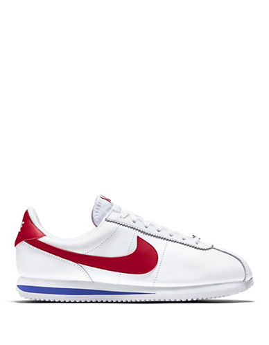 Nike Classic Cortez Leather Sneakers-WHITE-13