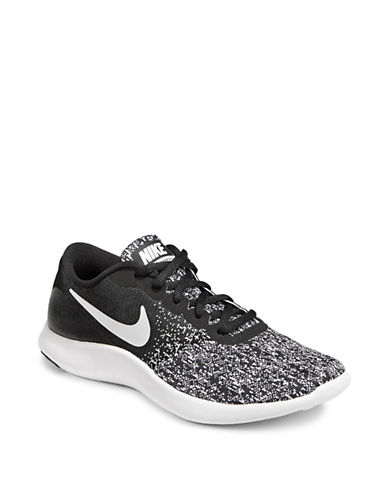 Nike Womens Flex Contact Running Sneakers-BLACK/WHITE-6.5