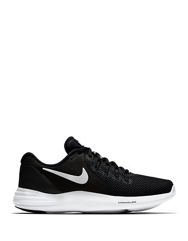 Nike Womens Lunar Running Shoes-BLACK-5.5