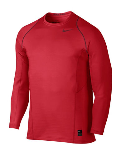 Nike Pro Hyperwarm Top-RED-Large 88925534_RED_Large