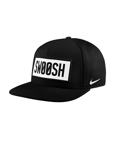 Nike Unisex Swoosh Baseball Cap-BLACK-Medium/Large 89710447_BLACK_Medium/Large