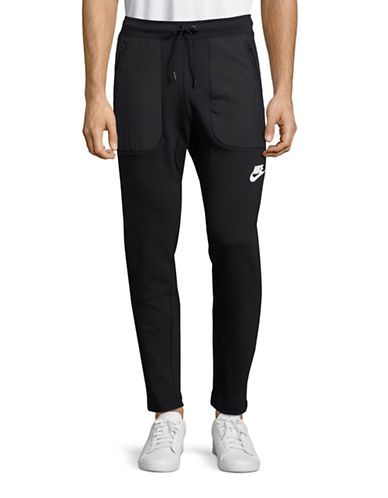 Nike Logo Fleece Jogger Pants-BLACK-Small 88772347_BLACK_Small