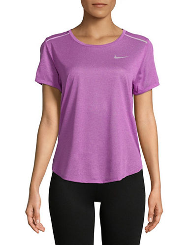 Nike Open Back Short-Sleeve Top-PINK-Large