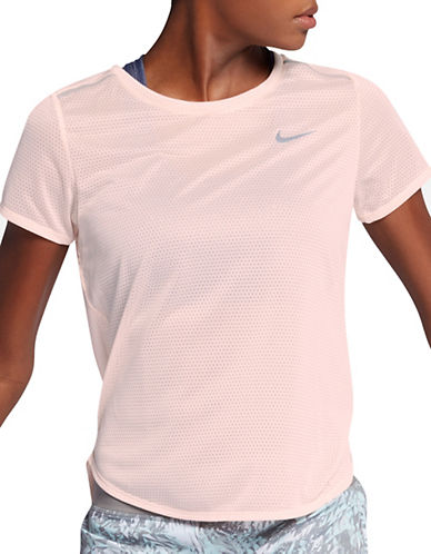 Nike Breathe Mesh Running Top-SUNSET-X-Large