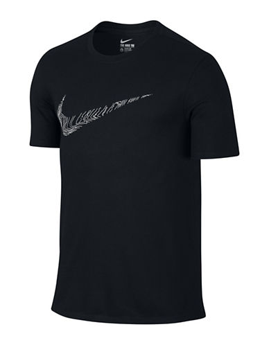 Nike Dry Swoosh Topography Training T-Shirt-BLACK-Medium 88501723_BLACK_Medium