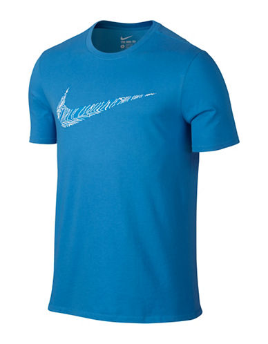 Nike Dry Swoosh Topography Training T-Shirt-LIGHT BLUE-Small 88501727_LIGHT BLUE_Small