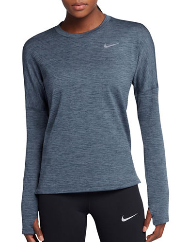 Nike Therma Sphere Running Top-BLUE-Small