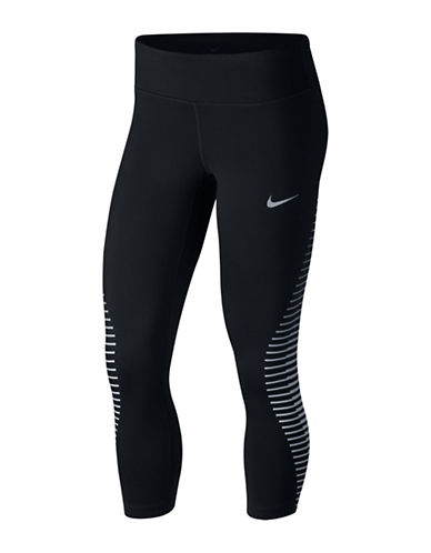 Nike Power Epic Run Running Cropped Pants-BLACK-Medium