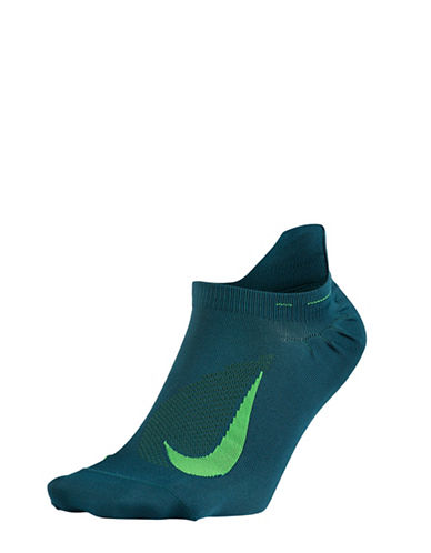 Nike Elite No-Show Tab Socks-GREEN-8-9.5