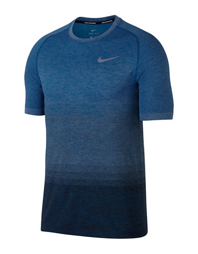 Nike Knit Running Tee-BLUE-Large 89407581_BLUE_Large