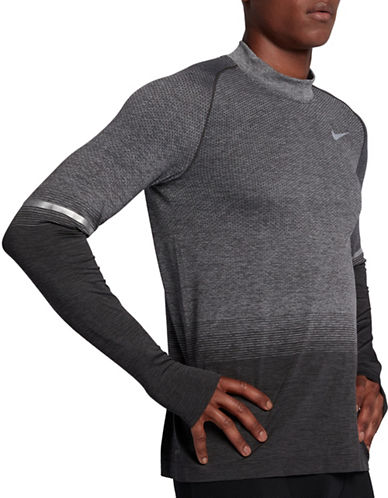 Nike Dri-Fit Running Top-GREY-XX-Large