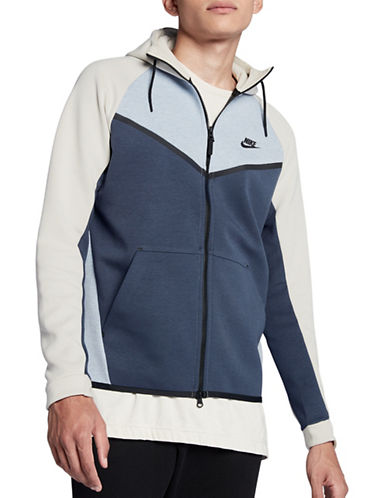 Nike Colourblock Fleece Hoodie-GREY-Small 89692879_GREY_Small