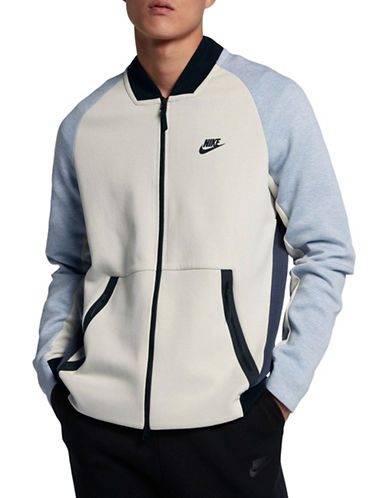 Nike Sportswear Tech Fleece Varsity Jacket-GREY-Medium
