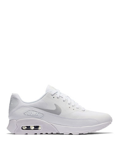 Nike Womens Air Max Mesh Sneakers-WHITE-8.5
