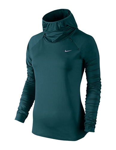 Nike Dri-Fit Element Funnel Neck Hoodie-GREEN-Small 88717056_GREEN_Small