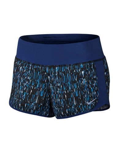 Nike Dri-Fit Crew Printed Running shorts-BLUE-X-Large 88717079_BLUE_X-Large