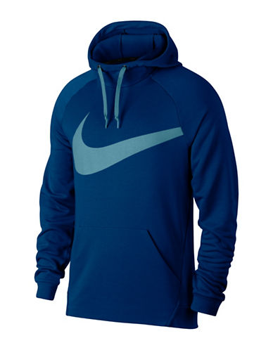 Nike Dry Training Hoodie-BLUE-Medium