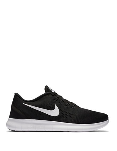Nike Free Run Knit Sneakers-BLACK/WHITE-9 88356899_BLACK/WHITE_9