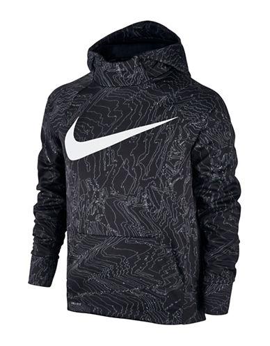 Nike Therma Print Logo Hoodie-BLACK-10-12 88566959_BLACK_10-12
