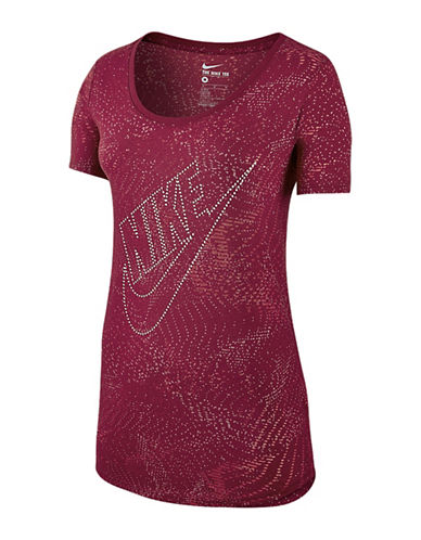 Nike Burnout Glitch Logo Tee-RED-X-Large 88579516_RED_X-Large
